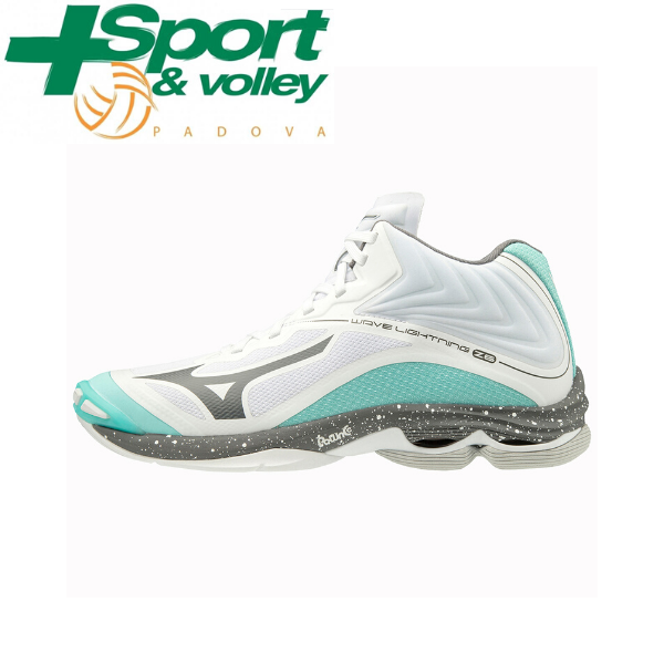 MIZUNO WAVE LIGHTNING Z6 MID Bianco / Turchese / Nero Donna
